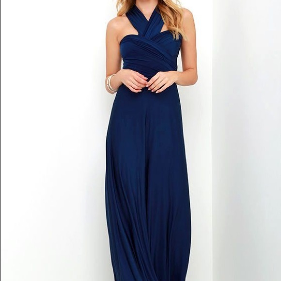 "bbebccd5adb1b ""Always Stunning Convertible Navy Blue Maxi Dress NWT"